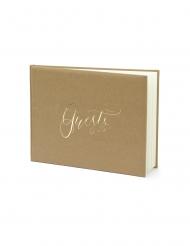 Guest book kraft et blanc 22 pages 24 x 18,5 cm