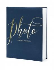 Album photo bleu et blanc 22 pages 20 x 24,5 cm
