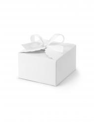 10 Boîtes en carton nuage ruban blanches 8 x 7,5 x 4,5 cm