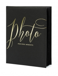Album photo noir et doré 22 pages 20 x 24,5 cm