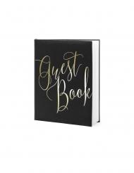 Guest book noir et doré 22 pages 20 x 24,5 cm
