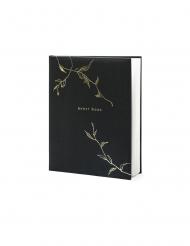 Livre d'or noir et doré 22 pages 20 x 24,5 cm