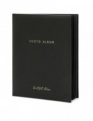 Livre photo album noir et doré 22 pages 20 x 24,5 cm