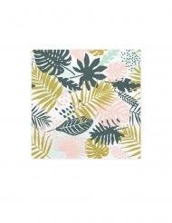 20 Serviettes en papier feuilles vertes 33 x 33 cm