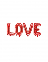 Ballon aluminium lettres LOVE rouge 140 x 35 cm