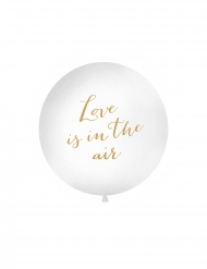 Ballon en latex géant love is in the air doré 1 m
