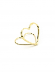 10 Marques places cœurs dorés 2,5 cm
