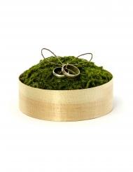 Boîte pour alliances en bois et mousse 12 x 4 cm