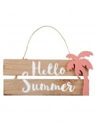 Pancarte en bois et corde Hello Summer 29 x 12 x 16 cm