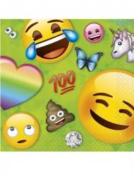 16 Petites serviettes en papier Emoji Rainbow™ 25 x 25 cm