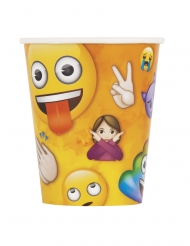 8 Gobelets en carton Emoji Rainbow™ 266 ml