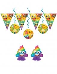 Kit anniversaire Emoji Rainbow™ 7 pièces