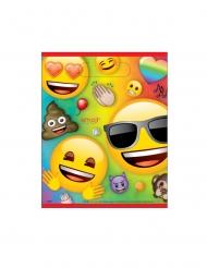 8 Sacs cadeaux en plastique Emoji Rainbow™