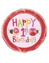 Ballon aluminium petite coccinelle rose 45 cm