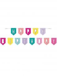 Guirlande en carton happy birthday pop 2,7m
