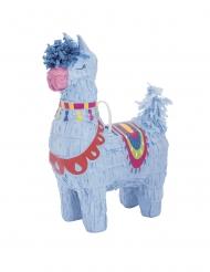 Mini piñata lama bleu 16 cm