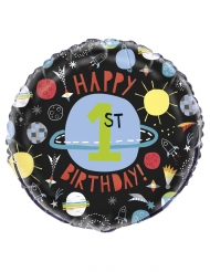 Ballon aluminium univers noir 45 cm