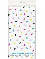 Nappe en plastique happy birthday confettis 137 x 213 cm