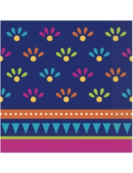 16 Serviettes en papier boho fiesta 33 x 33 cm