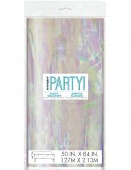 Nappe en plastique iridescente 137 x 213 cm