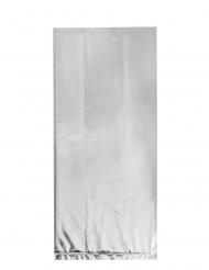 20 Sacs en plastique argentés 28 x 12 cm