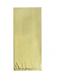 20 Sacs en plastique dorés 28 x 12 cm