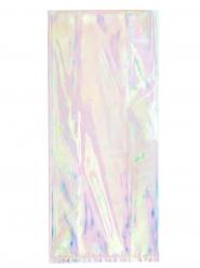 10 Sacs en plastique iridescents 28 x 12 cm