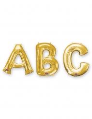 Ballon aluminium lettre doré 33 cm