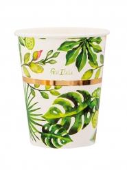 8 Gobelets en carton golden jungle 250 ml