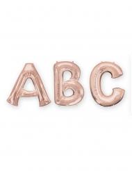 Ballon aluminium lettre rose gold 81 cm