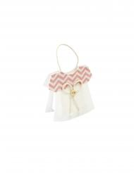 Sachet vêtement bébé en tissu rose 11 x 8 x 3,5 cm