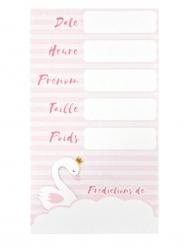 6 Cartes de prédictions baby shower roses 7 x 12,5 cm
