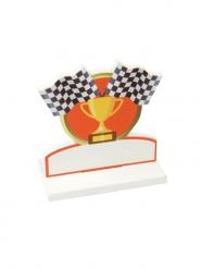 Marque place en bois Trophée victoire course automobile 7,4 x 7,6 cm