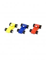 Voiture de course en résine coloris aléatoire 6 x 3,5 cm