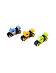 Moto de course en résine coloris aléatoire 5 x 3 cm