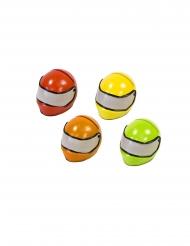 Marque place en résine casque de course coloris aléatoire 4,5 x 3,5 cm