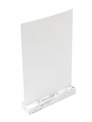 Porte menu en bois effet marbre 18 x 12 x 3 cm