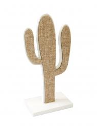 Cactus en toile sur support 15 cm