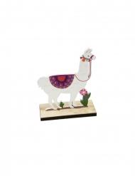 Lama en bois sur support 10 x 4,2 x 13 cm