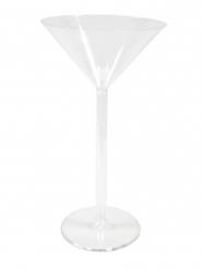Vase sur pied maxi coupe à martini en plastique 46 cm