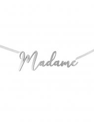 Décoration de chaise Madame argentée métallisée 25 x 8,5 cm