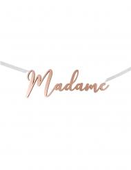 Décoration de chaise Madame rose gold métallisé 25 x 8,5 cm