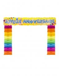 Décoration de porte Joyeux anniversaire pop 114 x 18,7 x 250 cm