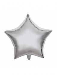 Ballon aluminium étoile argent 40 cm