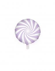 Ballon aluminium sucette violet et blanc 45 cm