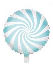 Ballon aluminium sucette turquoise et blanc 45 cm