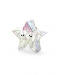 Mini piñata étoile iridescente 10,5 x 9,5 x 3,5 cm