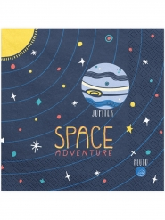 20 Serviettes en papier space adventure 33 x 33 cm