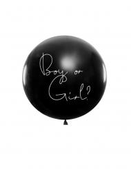 Ballon géant en latex boy or girl confettis bleus 1 m