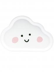 6 Assiettes en carton en forme de nuage blanches 26 x 17 cm